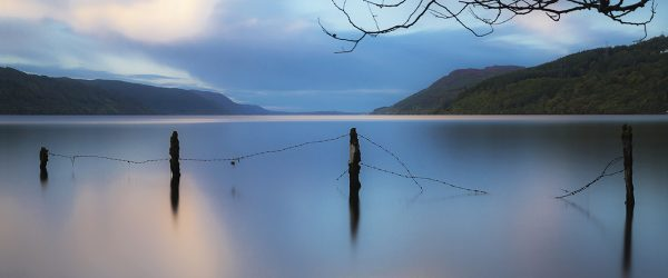 The old fence at Loch Ness